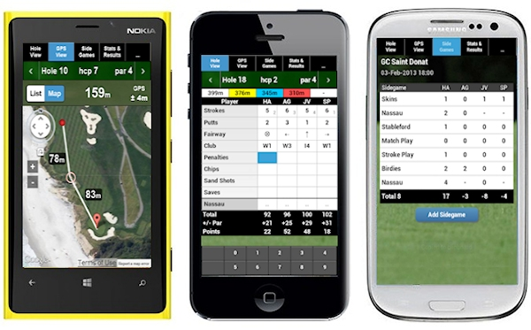 mScorecard golf scorecard software